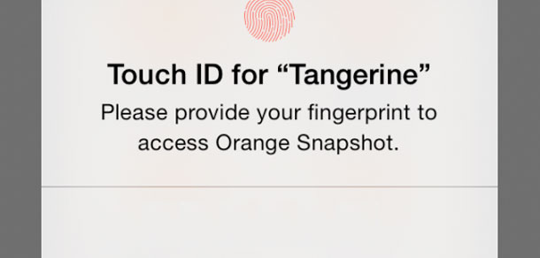 Tangerine enables Touch ID, plans for voice biometrics
