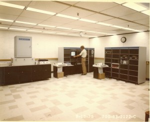 Early AFIS fingerprint matching lab