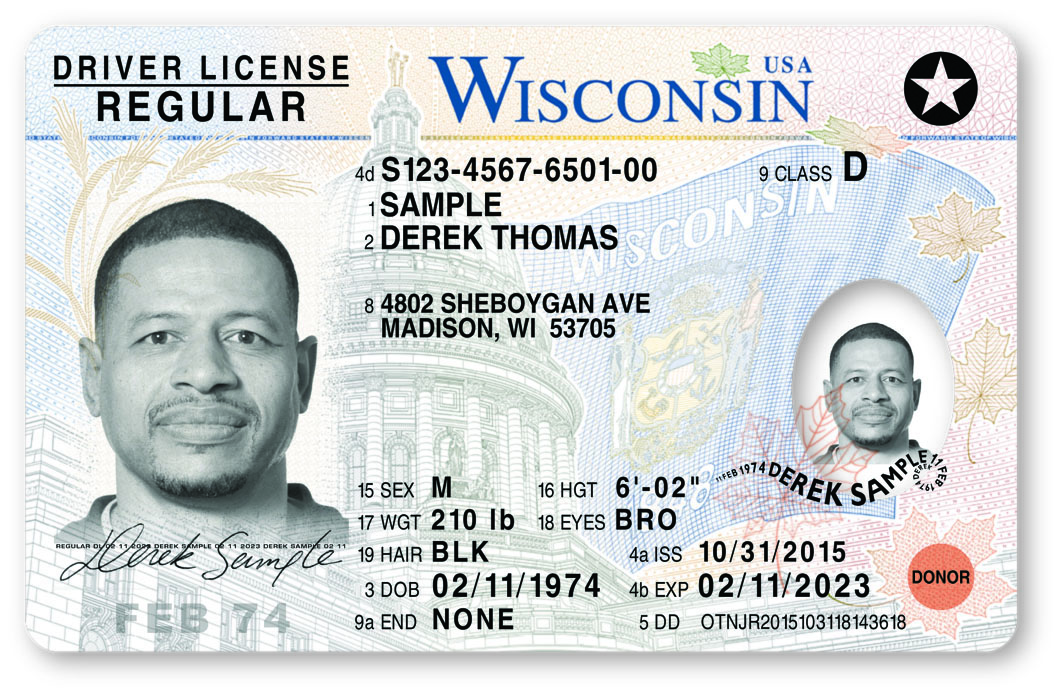The Wisconsin REAL ID. From the Wisconsin Department of Transportation site.
