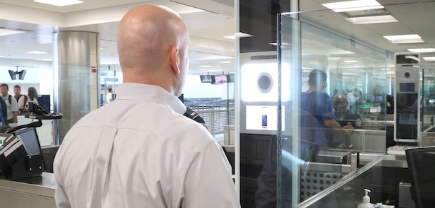 U.S. customs using facial recognition at JFK