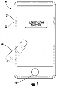 Apple patent for touchID biometric in touch screen
