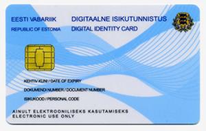 Estonia national digital ID card
