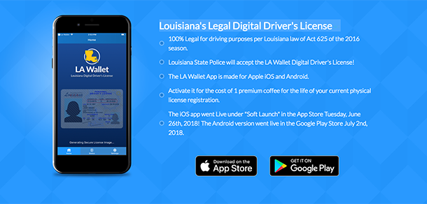 louisiana drivers license with chip