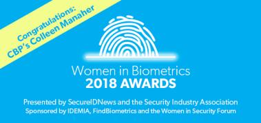2018 Women in Biometrics Award winner: Colleen Manaher, CBP