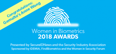 2018 Women in Biometrics Award winner: Anne Wang, Gemalto